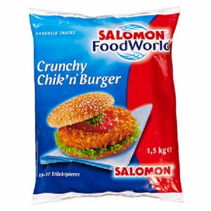 Salomon Crunchy Chicken Burger 4 x 1,5 kg Packung